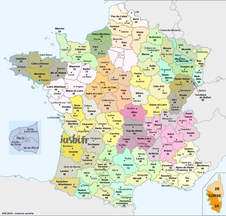 01 Département Carte - Les Departements De France à Departement Francais Carte