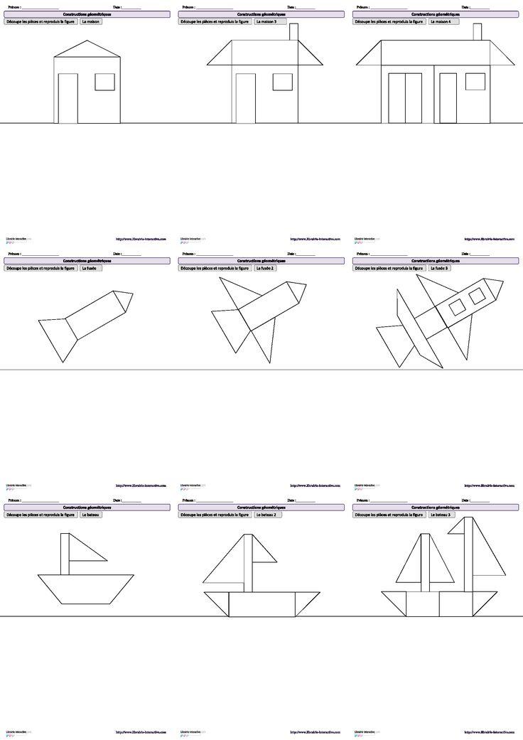 10 Dessins Amusants À Reproduire À L'Aide De Figures serapportantà Figures Géométriques Ce1