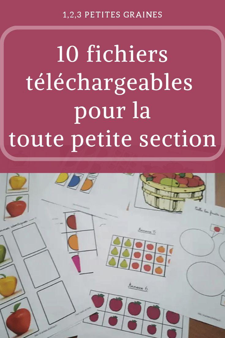 10 Fichiers Téléchargeables Gratuitement Pour La Tps serapportantà Jeux Gratuit Maternelle Petite Section