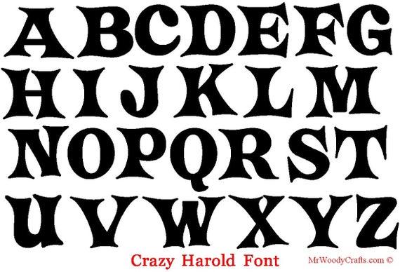 12 Unfinished Wooden Letters 5 Different Fonts intérieur Different Alphabet