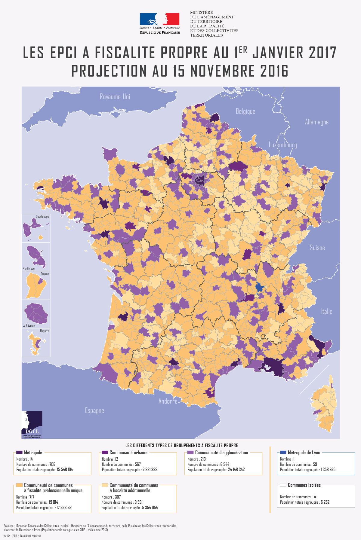 147 Epci En Région Nouvelle-Aquitaine À Compter Du 1Er encequiconcerne Nouvelles Régions De France 2017
