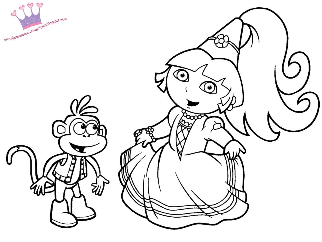 15 Coloriage Gratuit À Imprimer Dora Princesse | Des serapportantà Coloriage Dora Princesse