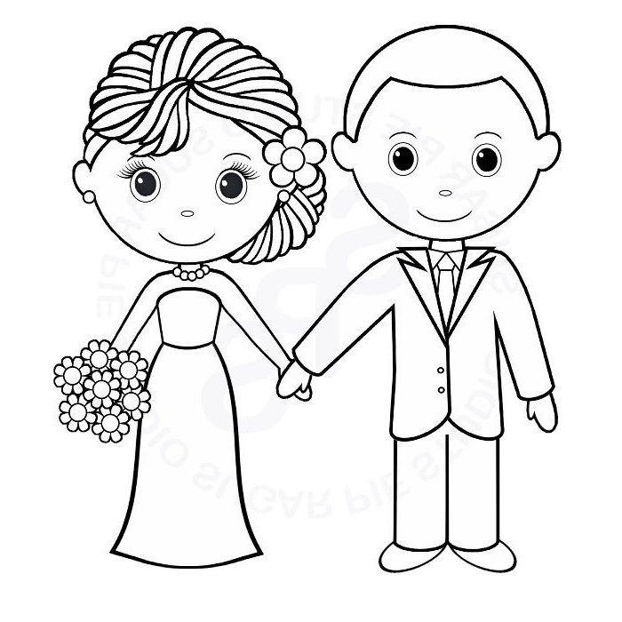 15 Exclusif Coloriage De Mariage Image En 2020 | Coloriage encequiconcerne Coloriage De Mariée