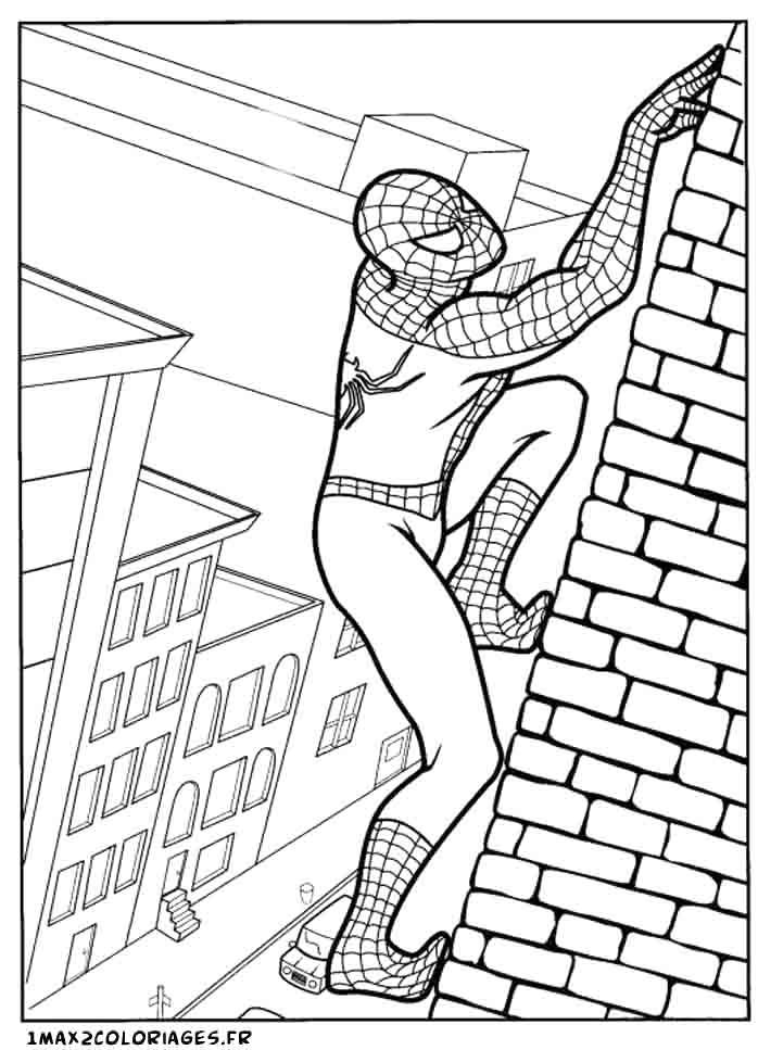 167 Dessins De Coloriage Spiderman À Imprimer Sur serapportantà Dessin Spiderman À Colorier Gratuit