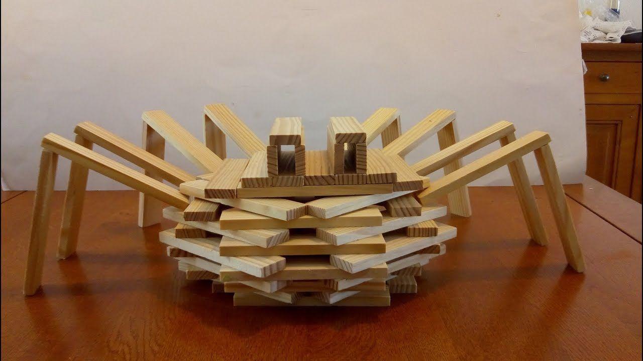 2 Constructions En Kapla Facile #1 | Kapla, Kapla 200 concernant Figure De Kapla