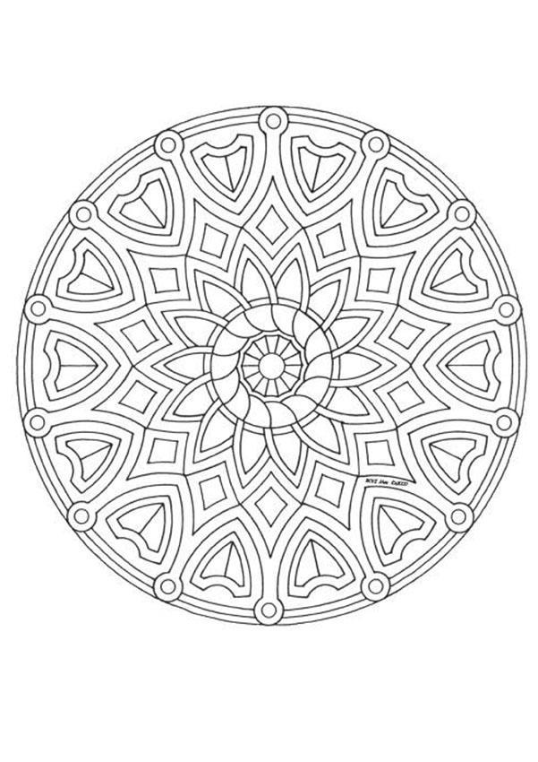 20 Dessins De Coloriage Mandala En Ligne À Imprimer concernant Coloriage En Ligne Mandala