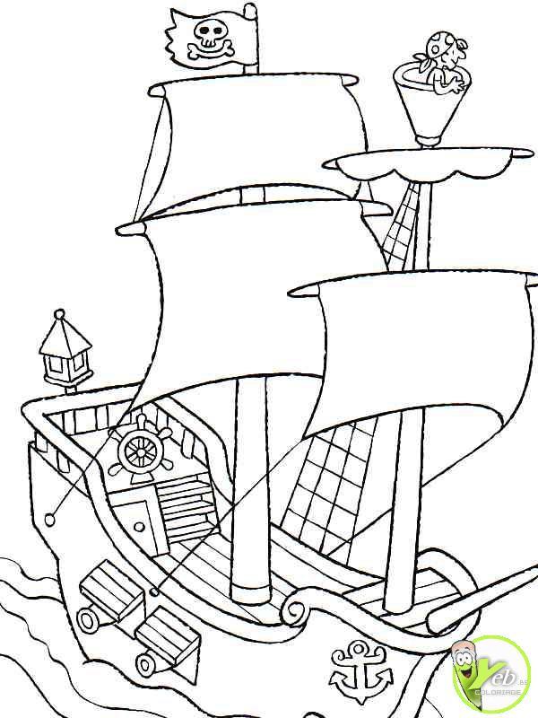 209 Dessins De Coloriage Pirate À Imprimer Sur Laguerche concernant Sur Le Bateau Des Gentils Pirates