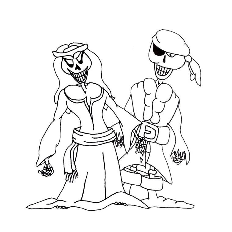209 Dessins De Coloriage Pirate À Imprimer Sur Laguerche tout Sur Le Bateau Des Gentils Pirates