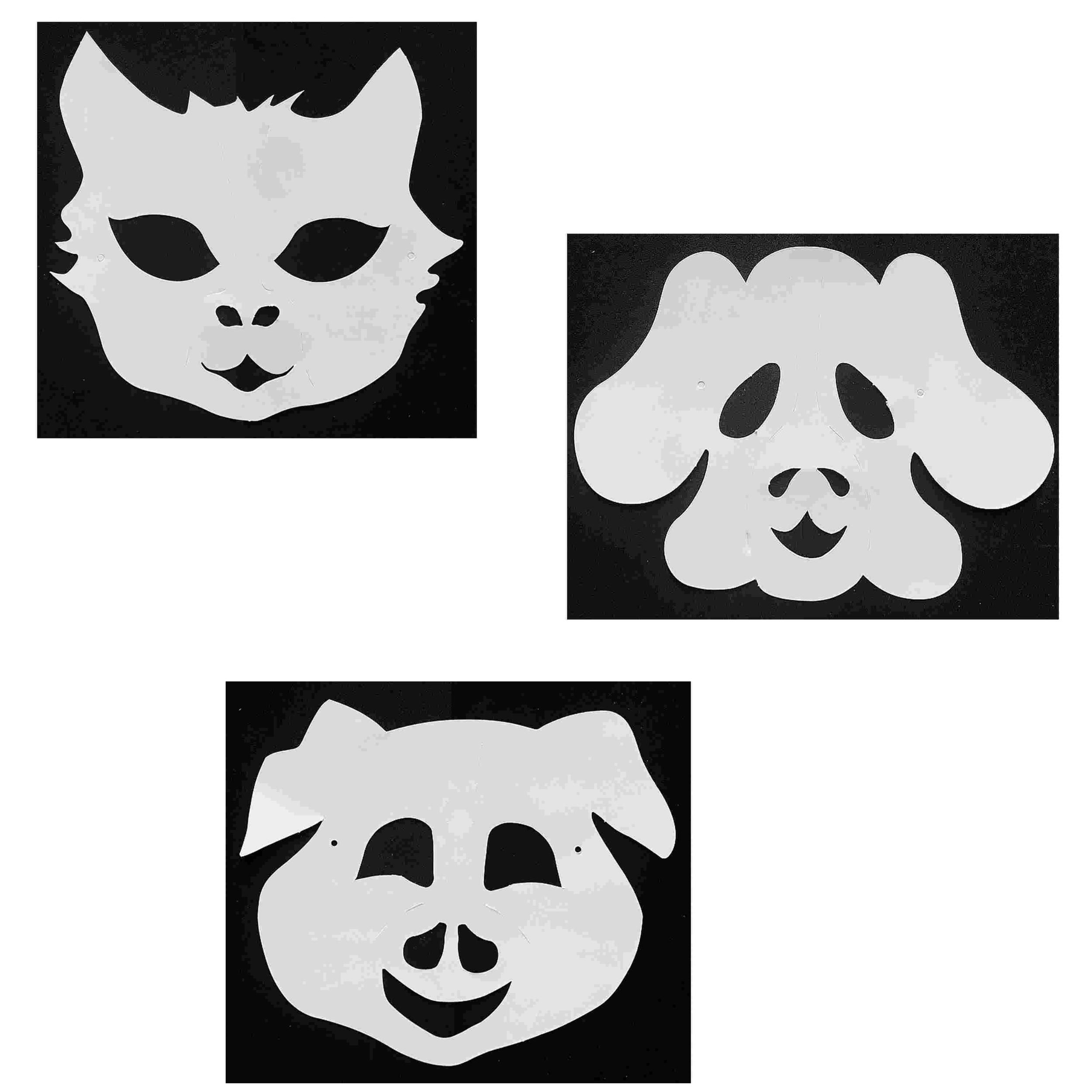 3 Masques Animaux À Décorer Avec Des Gommettes - Chat dedans Masque À Imprimer Animaux