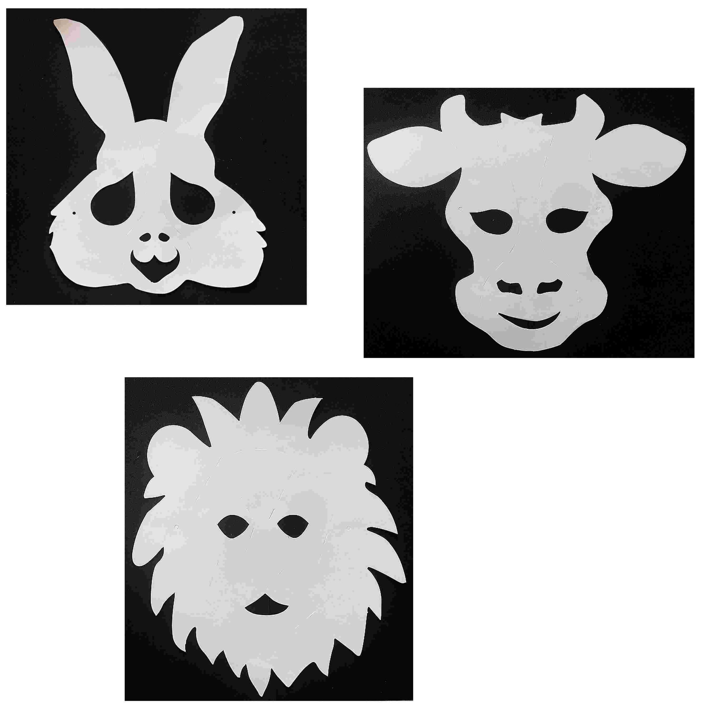 3 Masques Animaux À Décorer Avec Des Gommettes - Lion dedans Masque À Imprimer Animaux