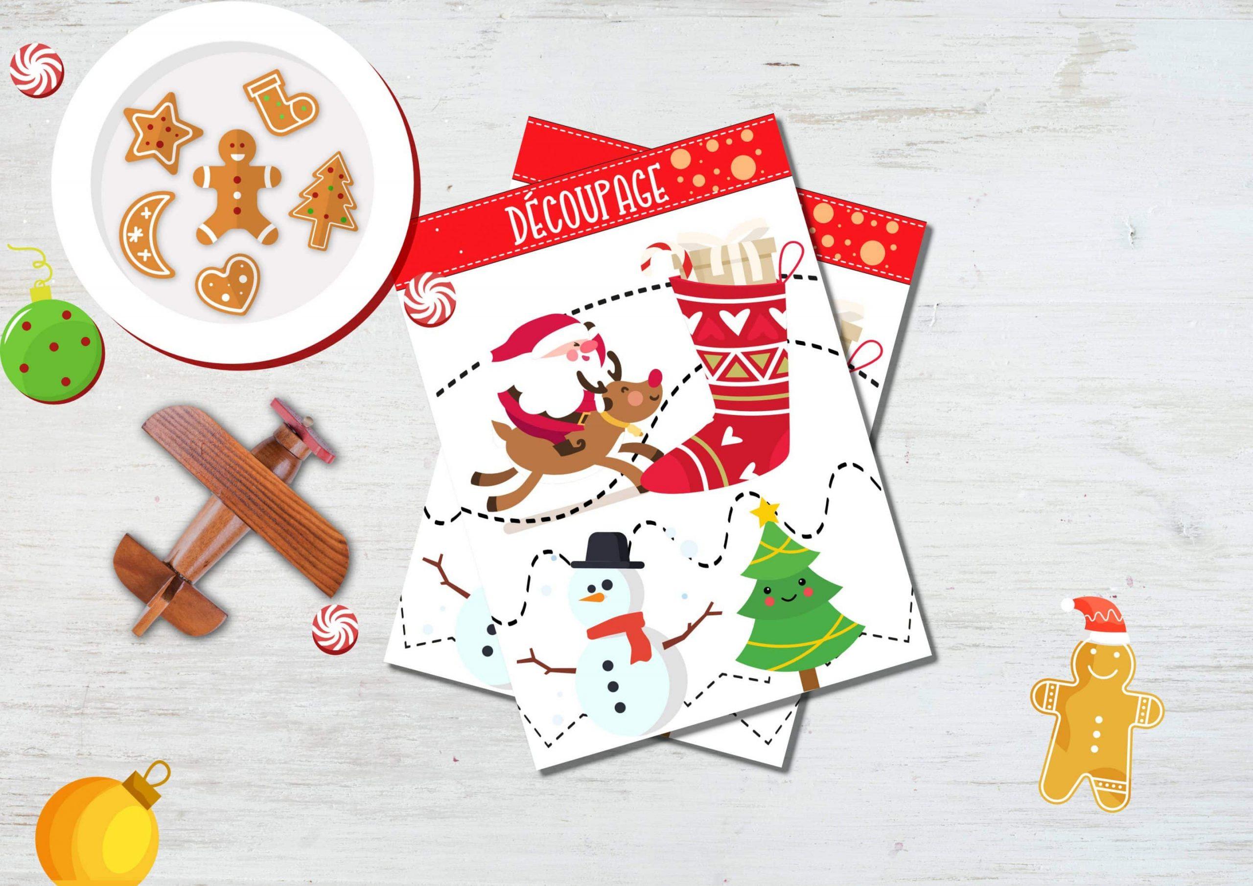 4 Feuilles De Découpage De Noël À Imprimer Gratuitement concernant Decoupage A Imprimer Gratuit