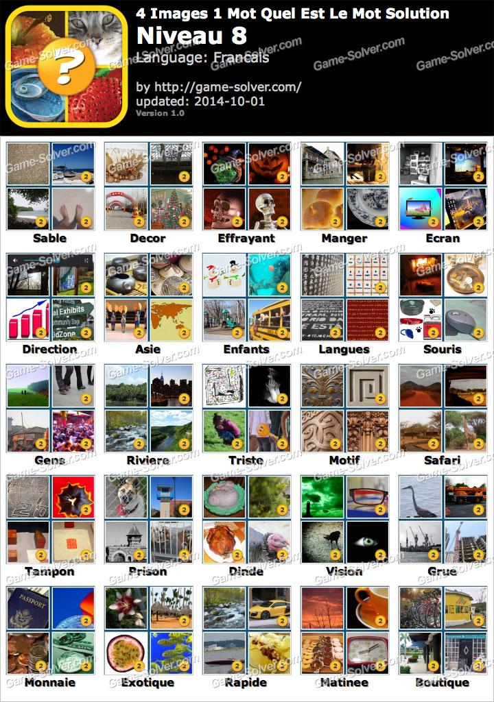 4 Images 1 Mot Quel Est Le Mot Niveau 8 - Game Solver encequiconcerne Un Mot Pour Quatre Images