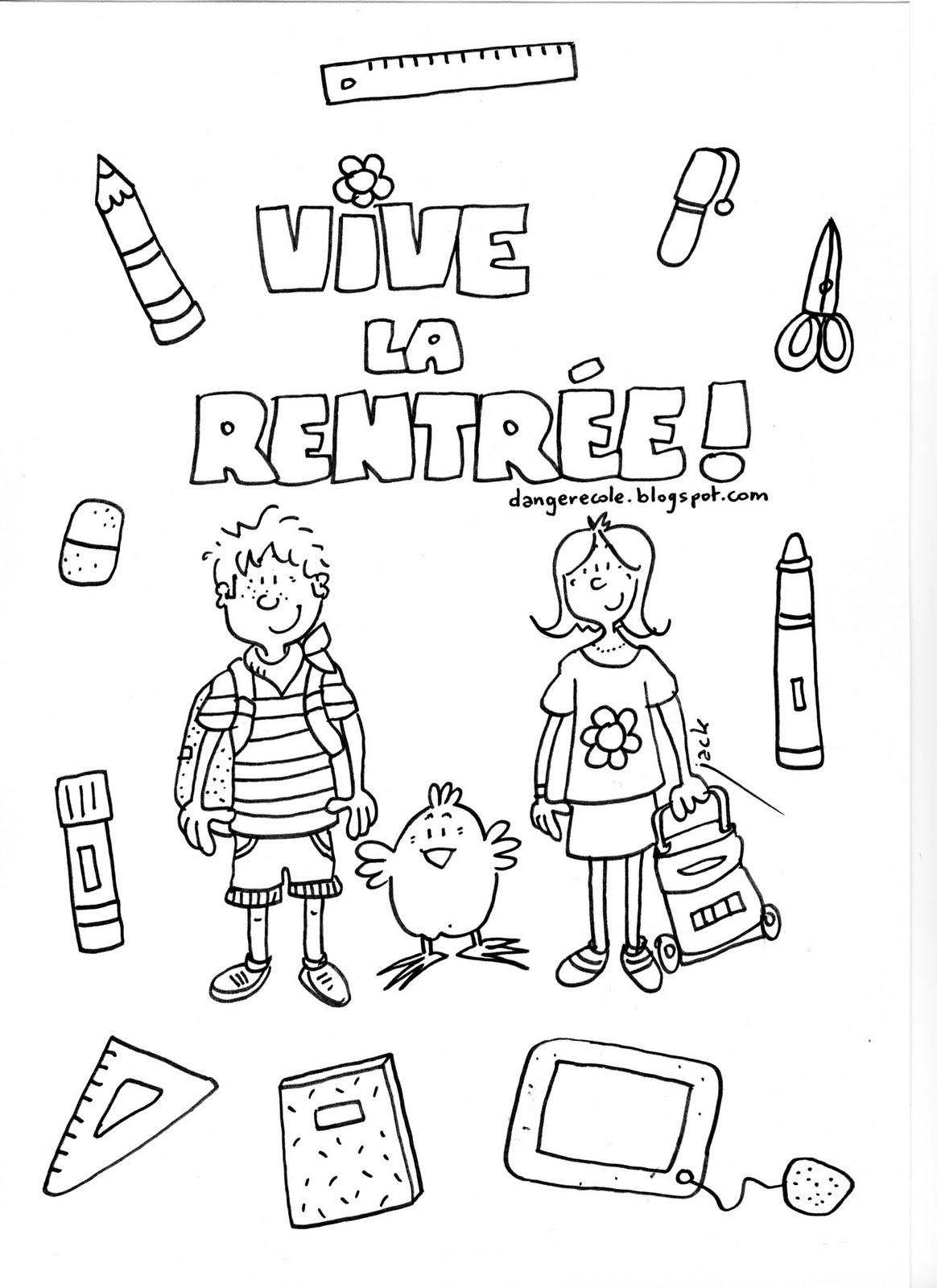 46 Dessins De Coloriage Rentrée Maternelle À Imprimer Sur encequiconcerne La Rentrée Maternelle