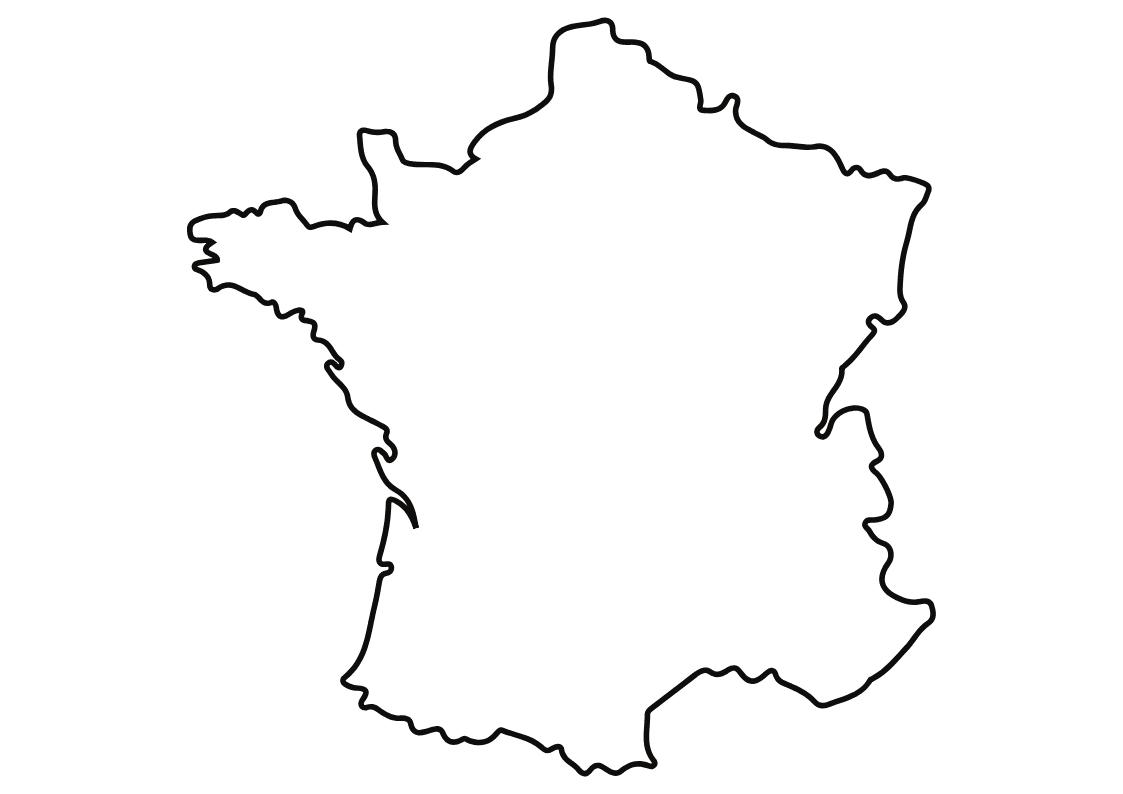 50 Modèles De Carte Vierge Du Monde, France & Europe - Canva destiné Dessin Carte De France