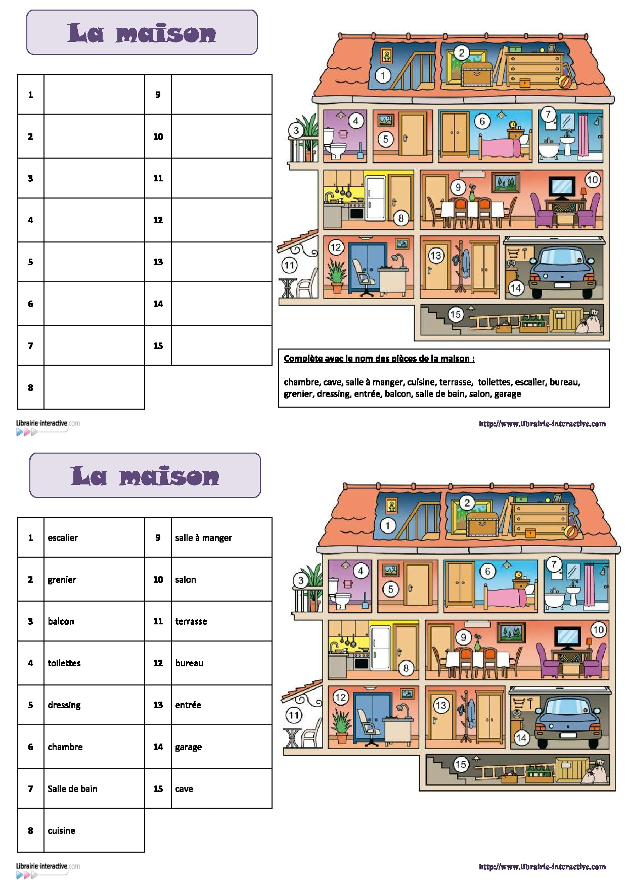6 Pics Vocabulaire De La Maison En Anglais Cm2 And intérieur La Rentrée En Anglais