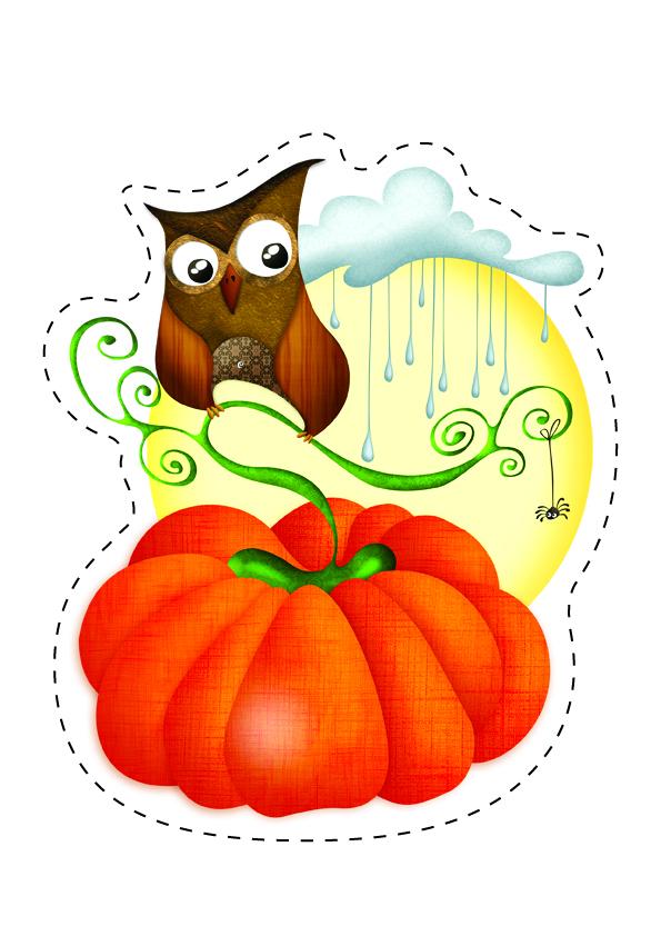 7 Déco À Imprimer Pour Halloween ! Bouh !   Le Cyber'Mag pour Decoupage A Imprimer Gratuit