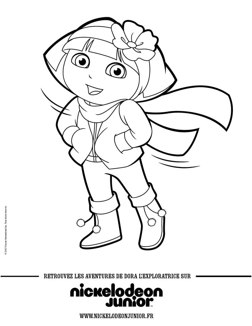 9 Cher Coloriage Dora Gallery - Coloriage intérieur Coloriage Dora Princesse