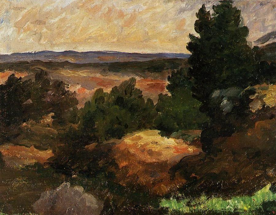 Acheter Paul Cezanne - Paysage (Reproduction, Copie encequiconcerne Paul Cezanne Oeuvres