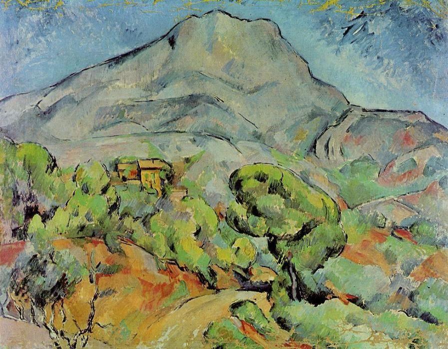Acheter Tableau 'Route Proche Mont Sainte Victoire' De à Paul Cezanne Oeuvres