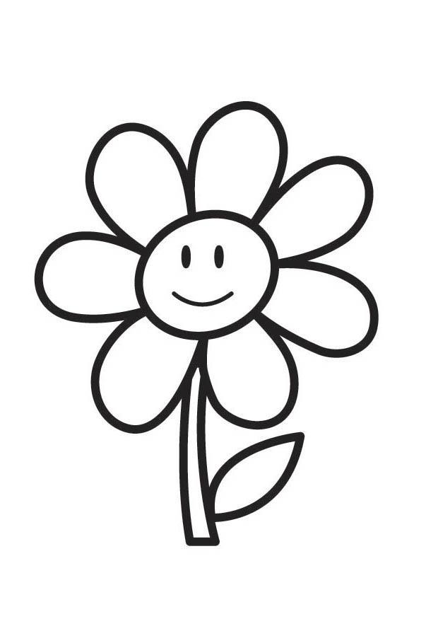 Activité De Printemps: Coloriage D'Une Fleur - Education destiné Coloriage Fleurs Printemps
