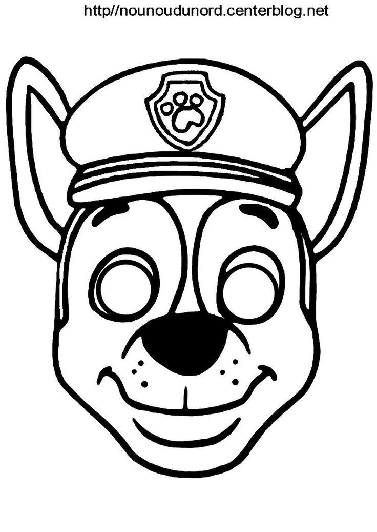 Activite Masque A Imprimer   Coloriage Pat Patrouille tout Masques Animaux À Imprimer