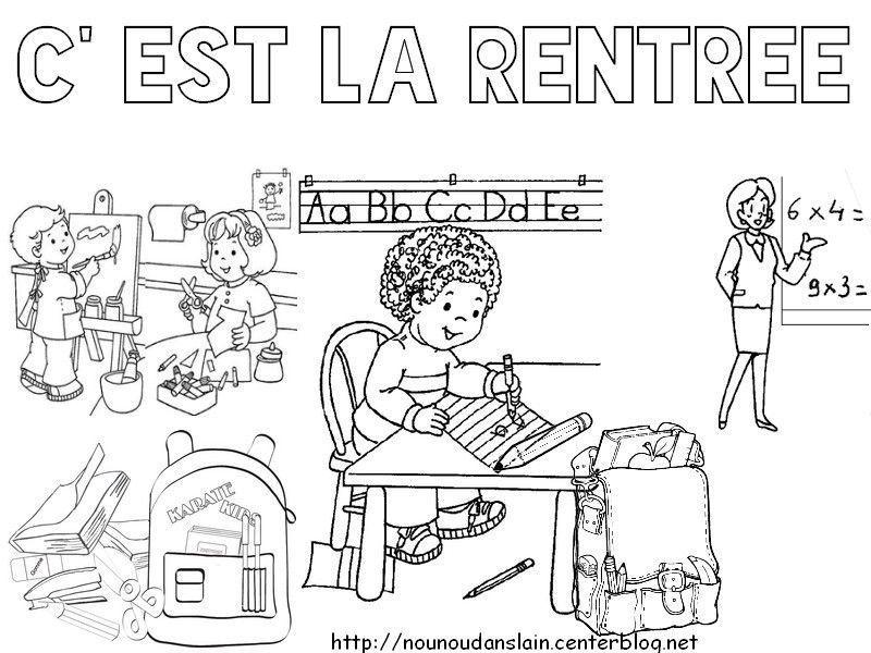 Activite Rentree pour Dessin De Rentrée Des Classes