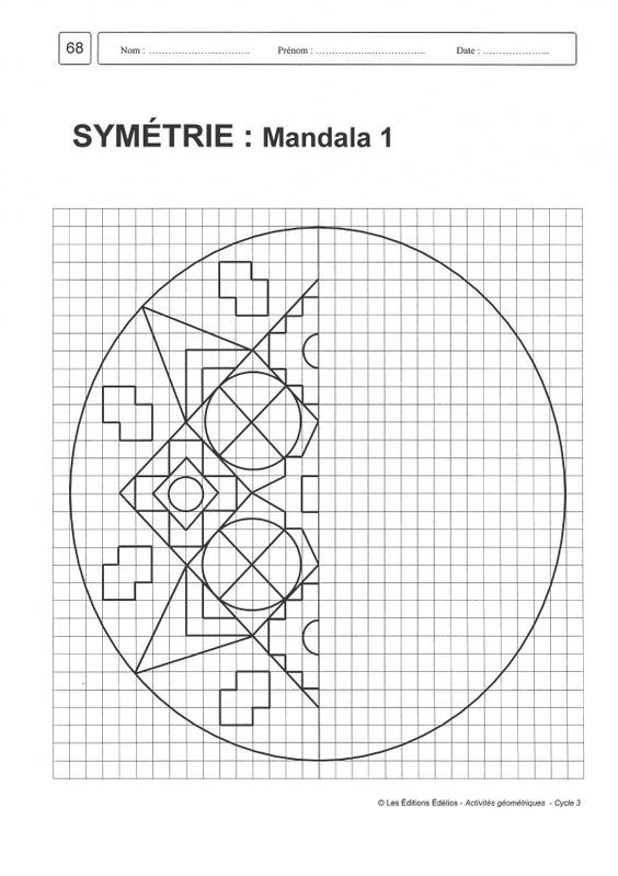 Afbeeldingsresultaat Voor Géométrie Cycle 3   Math Art concernant Symétrie A Imprimer