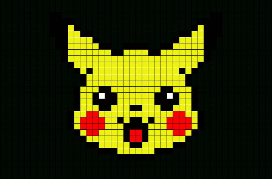 Afficher L'Image D'Origine   Pixel Art Pokemon, Coloriage avec Pixel A Colorier