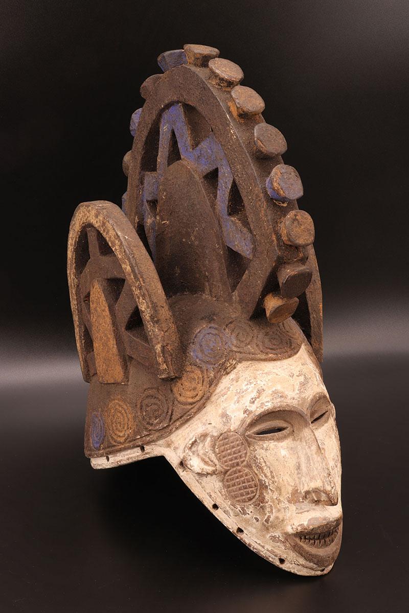 Afrique - Masque Africain 1950 | Goldfield Auctions destiné Masques Africains À Fabriquer