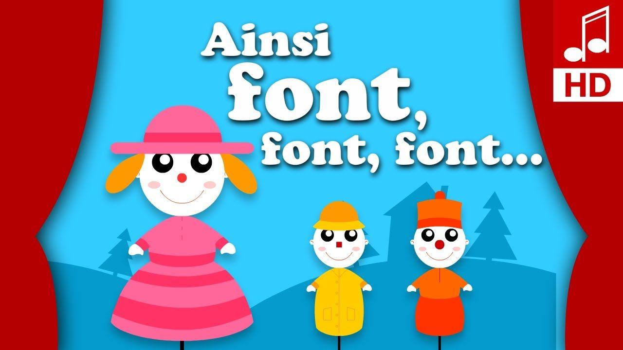 Ainsi Font Font Font Les Petites Marionnettes Comptine tout Un Sifon Fon Les Petite Marionnette