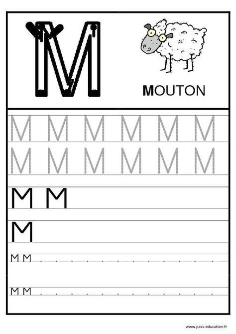 Alphabet - Ecrire Les Lettres - Ecriture - Maternelle pour Que Peut On Écrire Avec Les Lettres