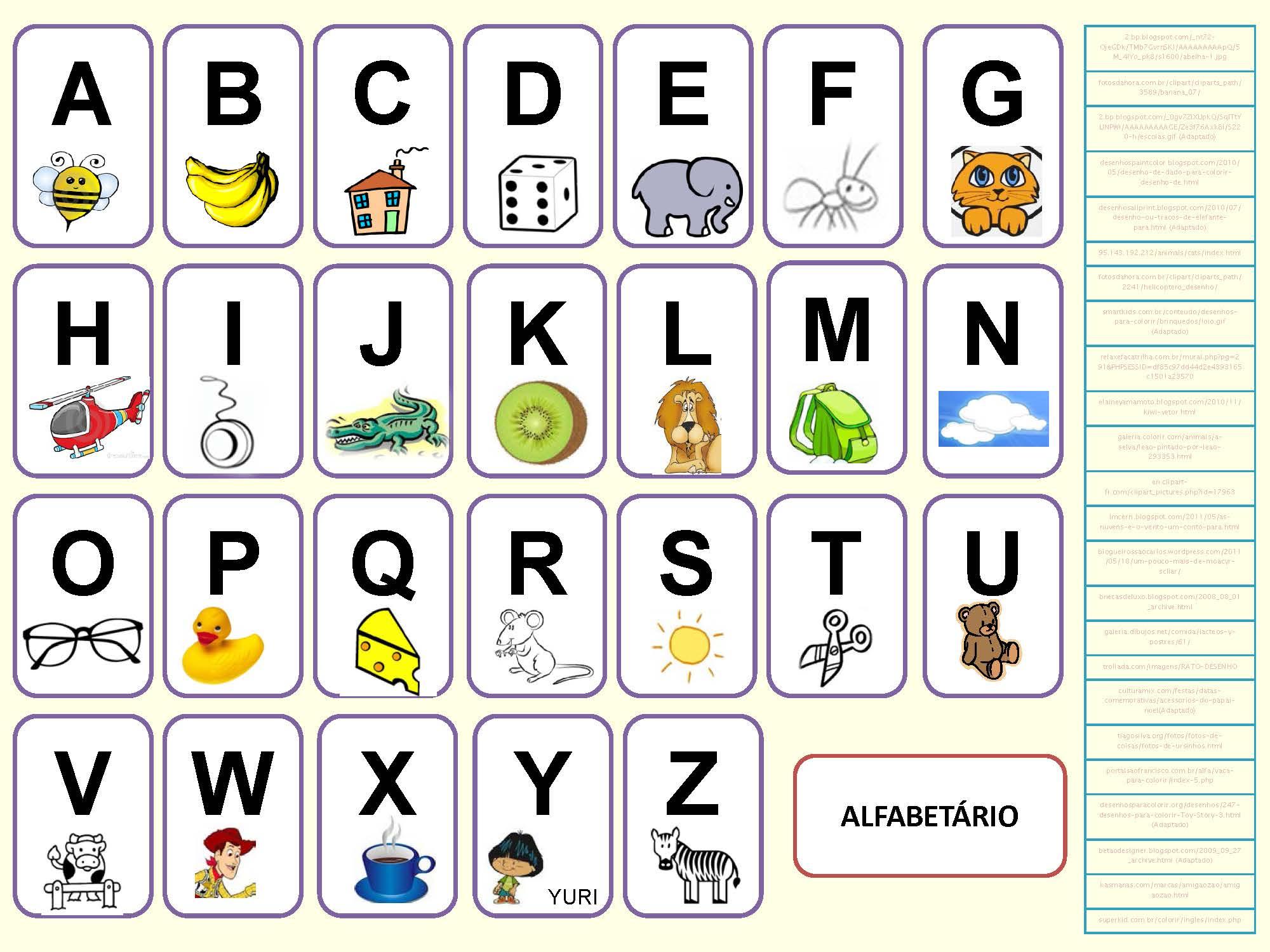 Alphabet Portugais En Images À Imprimer - Tests & Jeux concernant Jeux Educatif Ce1 A Imprimer