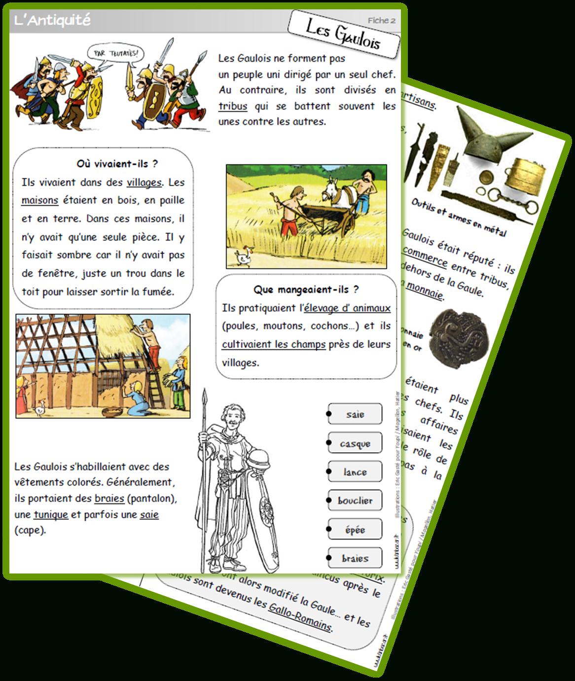 Antiquité Gaulois Cycle 2 | Lutin Bazar serapportantà Lutin Bazar Poésie