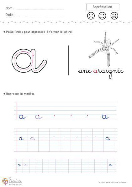 Apprendre À Écrire L'Alphabet En Minuscule À Imprimer destiné Apprendre À Écrire L Alphabet En Maternelle