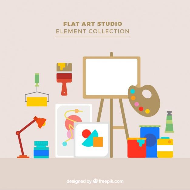 Art Studio Avec Un Matériel D'Artiste   Télécharger Des pour Materiel Eps