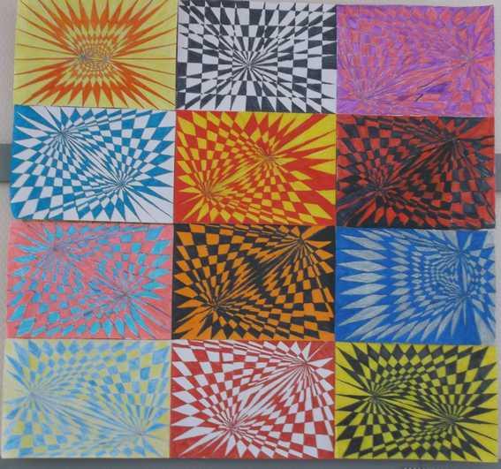 Arts Visuels Cm1 Cm2 : Vasarely - École Élémentaire Louise destiné Art Visuel Ce1 Ce2