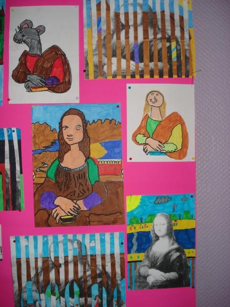 Arts Visuels : « La Joconde » Des Ce2-Cm1…. | Blog De L dedans Art Visuel Ce1 Ce2