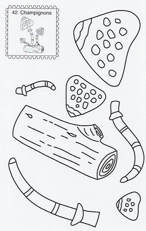 Atelier Découpage-Collage Les Champignons   Collage destiné Découpage Collage Maternelle À Imprimer