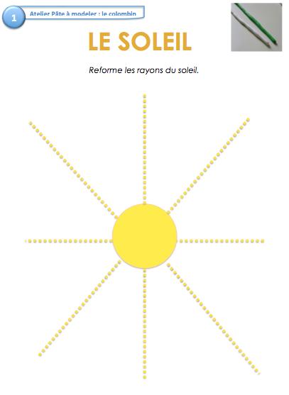Ateliers Autonomes: Pate À Modeler - Le Jardin D'Alysse intérieur Graphisme Soleil