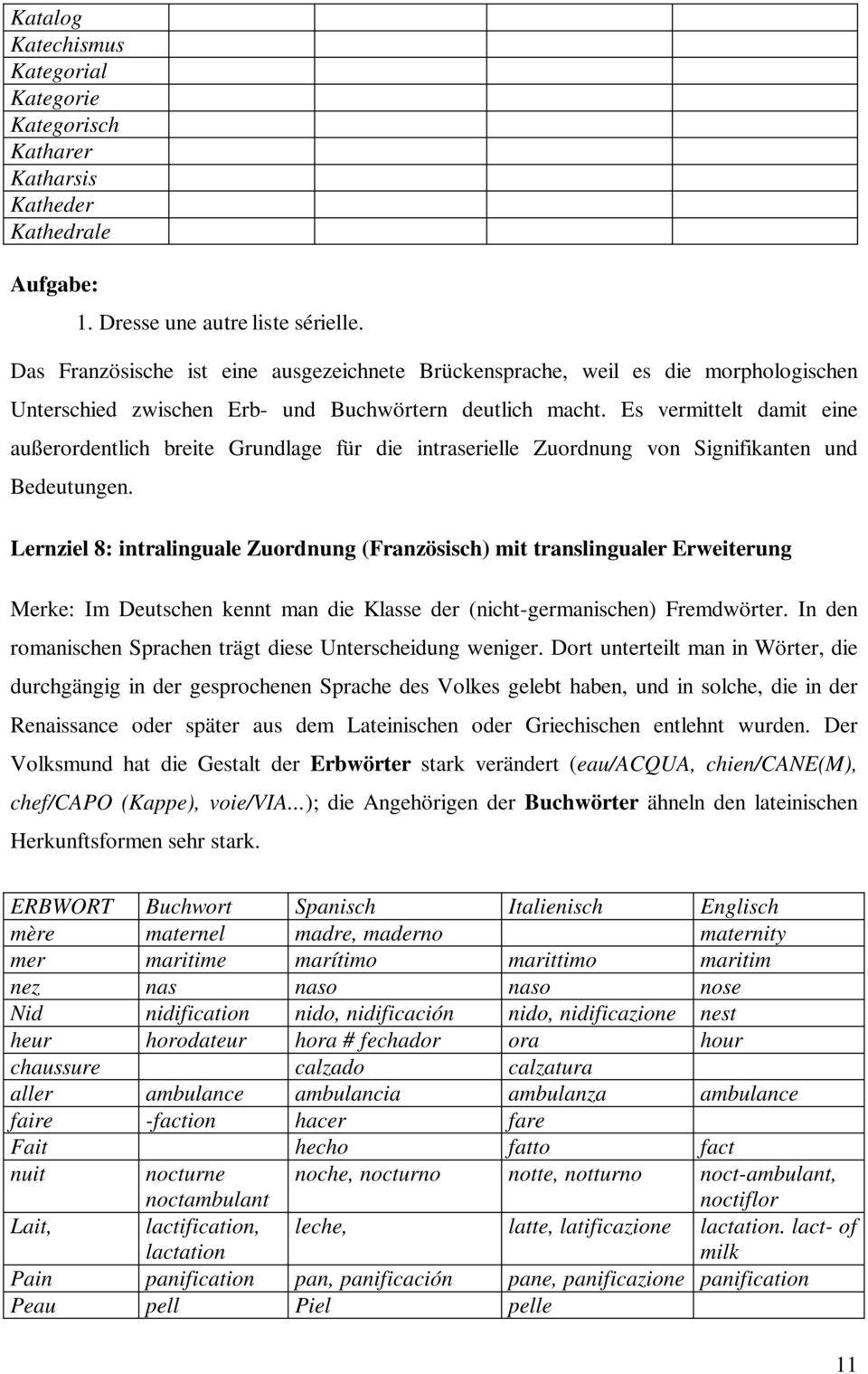 Aus Der Mehrsprachenwerkstatt: Lexikalische Übungen Zum encequiconcerne Nombre En Espagnol De 1 A 1000