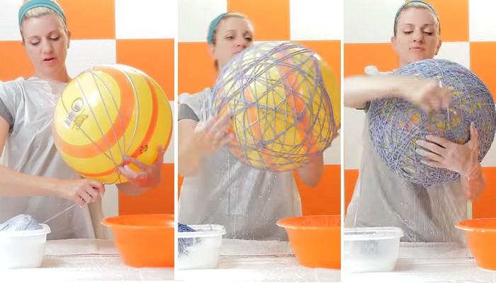 Avec Seulement Une Pelote De Laine Et De La Glue, Réalisez dedans Comment Faire Une Boule D Élastique