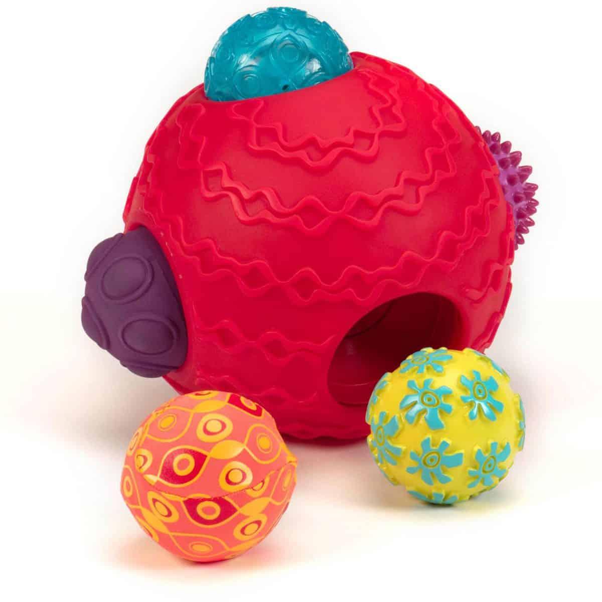 Balles Sensorielles Pour Bébé Ballyhoo Par B. - Achat En Ligne intérieur Jeux De Balle Bebe