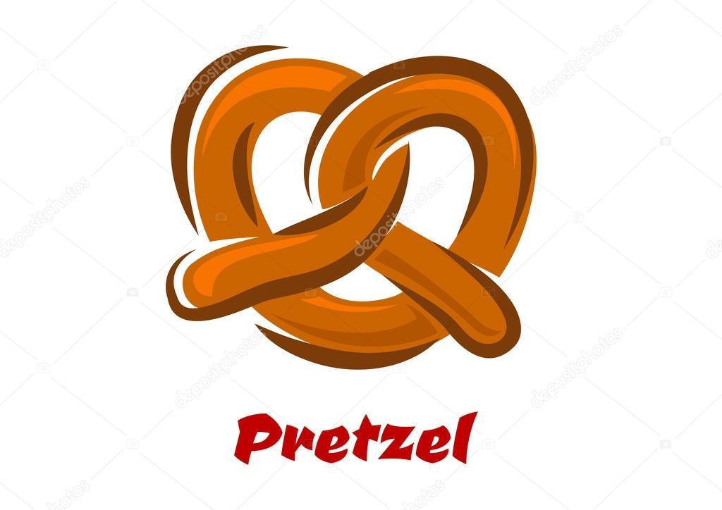 Bavarian Twisted Pretzel In Cartoon Style — Stock Vector concernant Dessin Bretzel