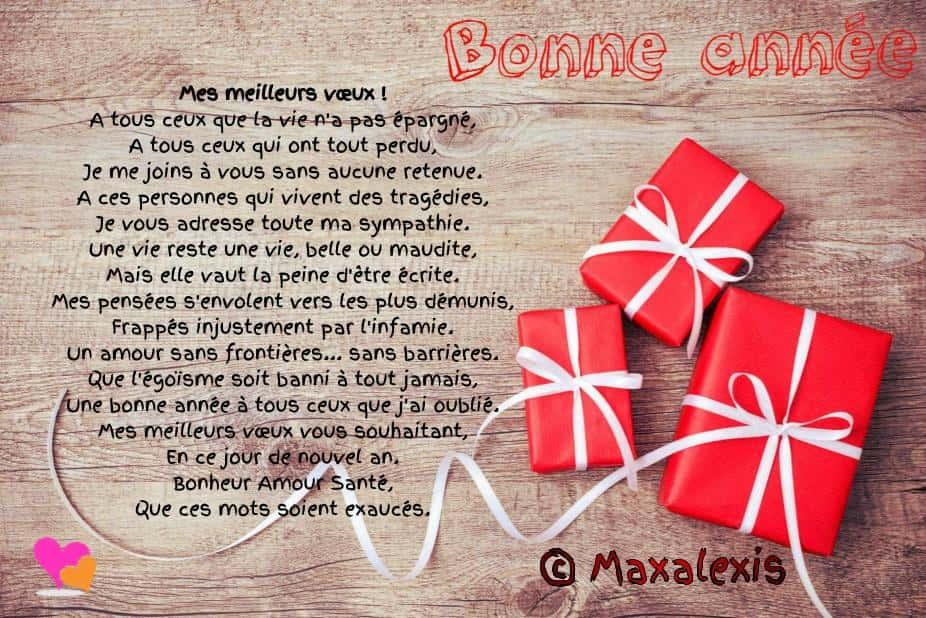 Beaux Textes & Vœux Pour Souhaiter Bonne Année   Poésie D encequiconcerne Nouvel An Poeme