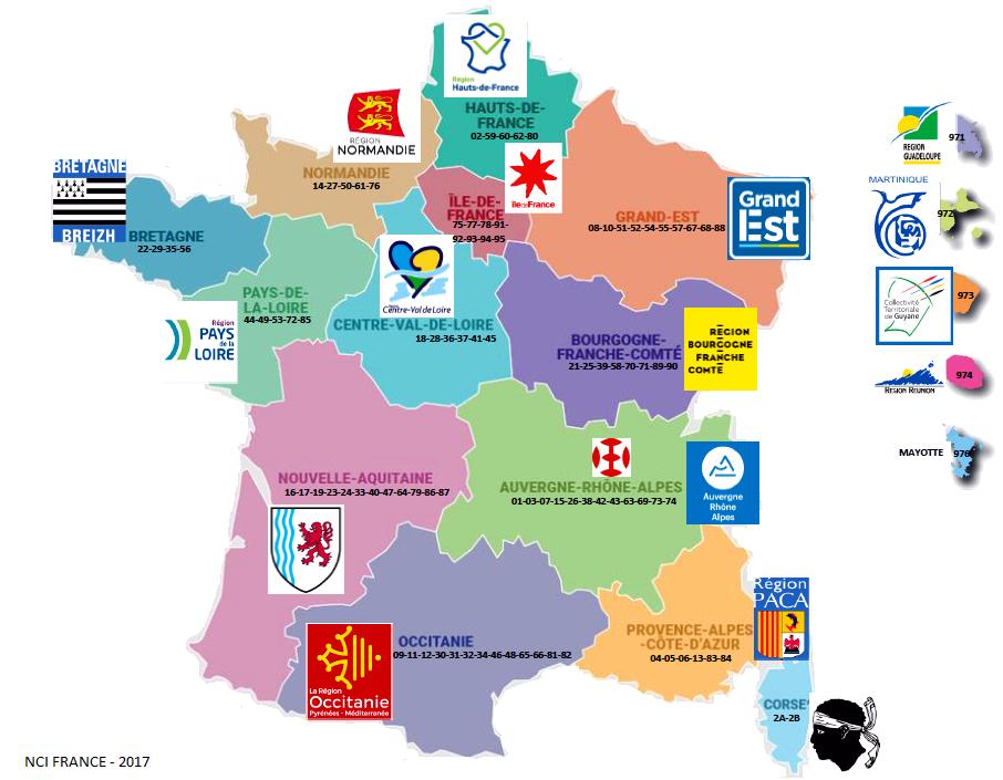 Blog - Nci France — Signalisation: Nouvelles Régions avec Nouvelles Régions De France