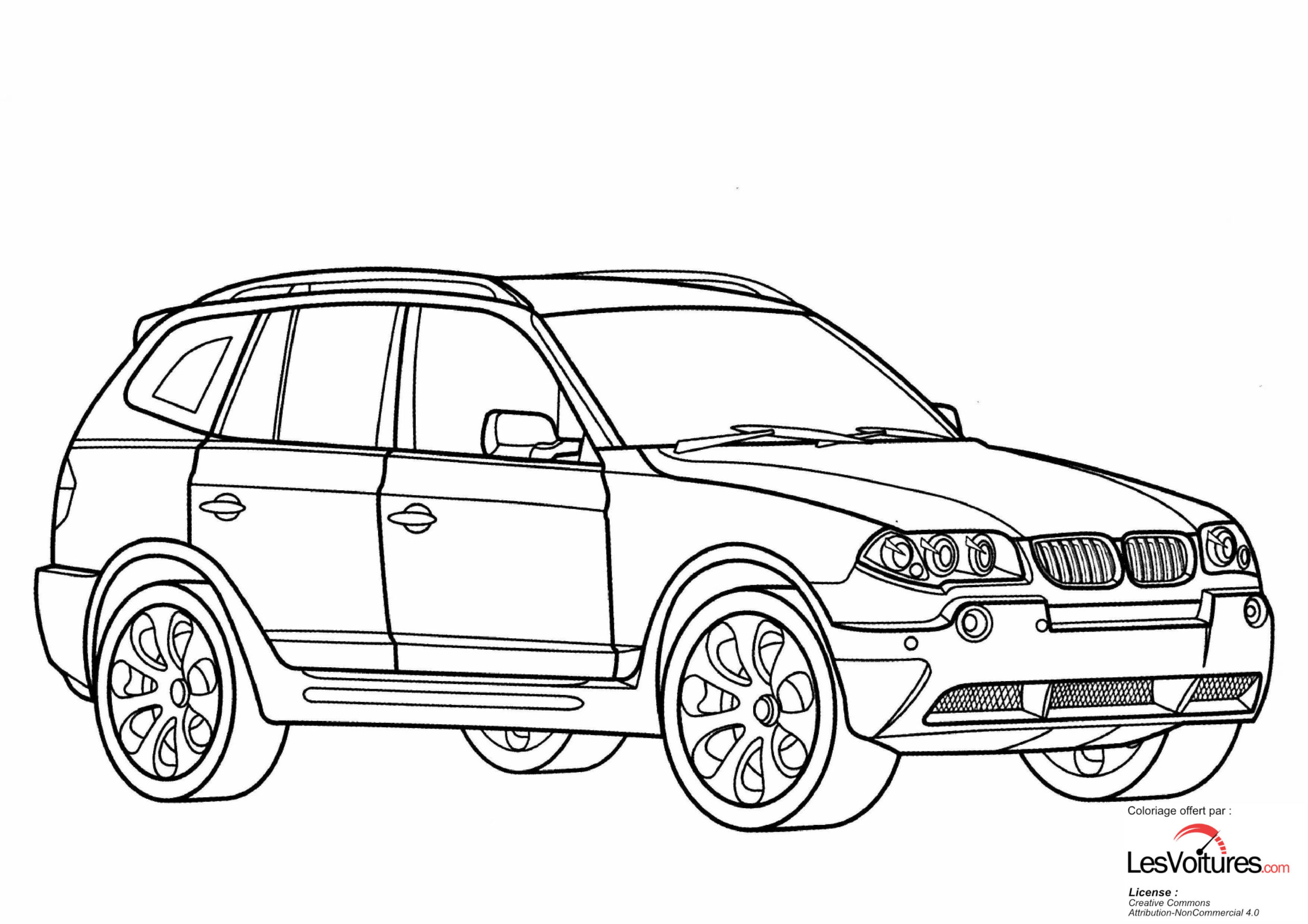Bmw-X3-Coloriage-Voiture   Les Voitures tout Dessin Voiture Mercedes