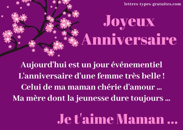 Bon Anniversaire Belle Maman encequiconcerne Joyeux Anniversaire Maman Chanson
