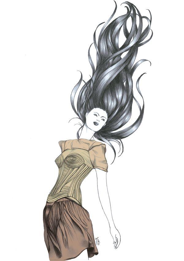 Bon Vent   Cheveux Au Vent Dessin, Cheveux Dessin, Cheveux pour Dessiner Le Vent