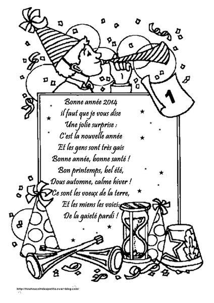 Bonne Anne: Poeme Bonne Annee 2019 Maternelle Avec Poeme concernant Nouvel An Poeme
