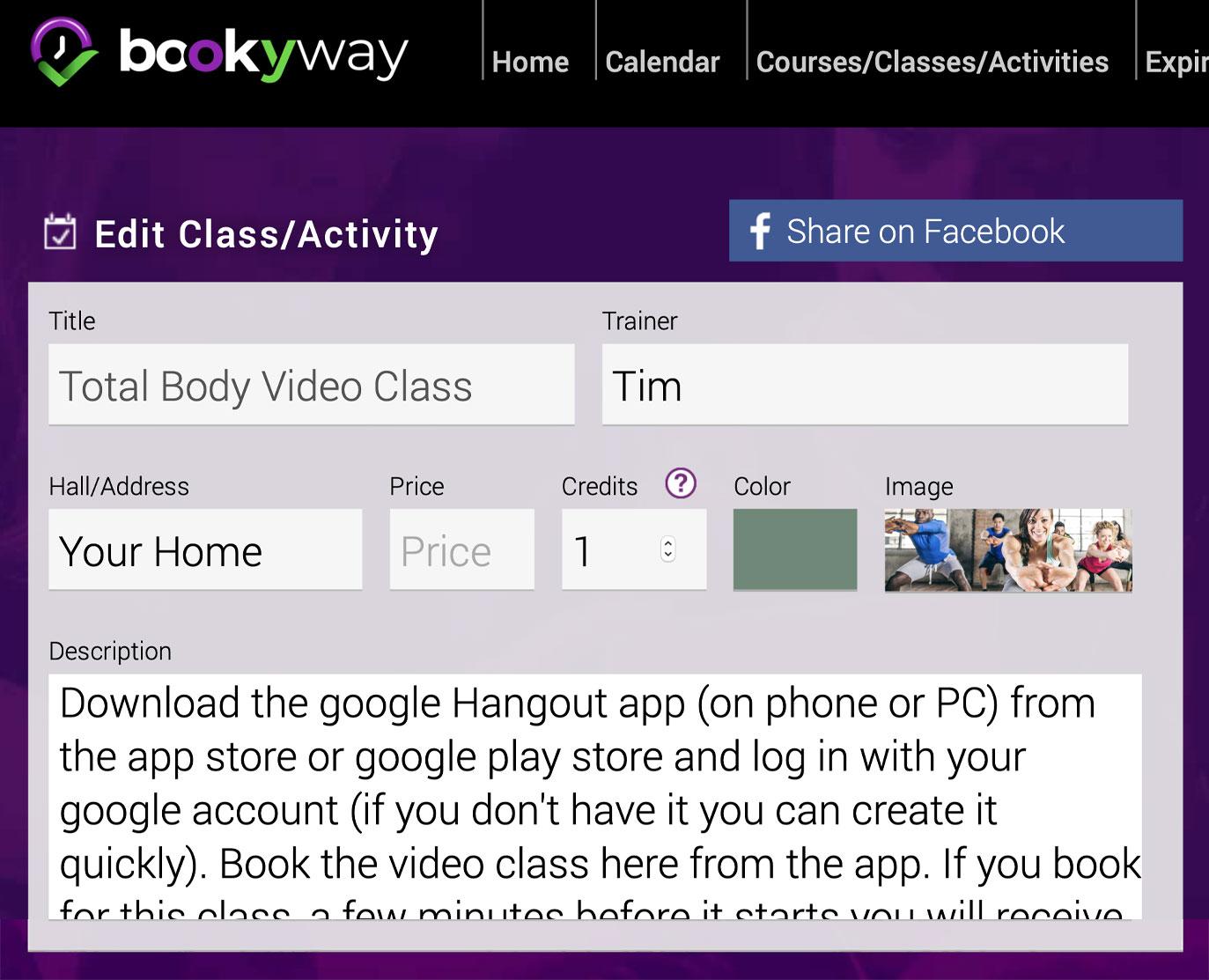 Bookyway - Créez Cours Vidéo De Fitness En Ligne Et En Direct concernant Envoyer Invitation Hangout
